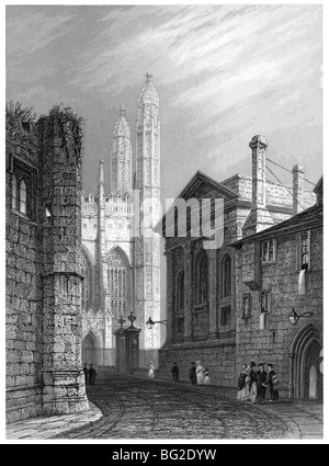 Trinity Hall, Cambridge – Eingang zum zweiten Gericht - Stockfoto