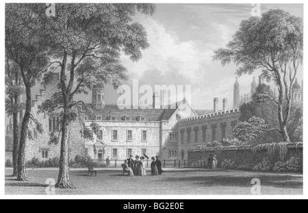 Trinity Hall, Cambridge-Ansicht vom Garten - Stockfoto