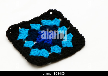 Handarbeit Häkeln bunte Oma afghanischen quadratisch mit Strang auf ...