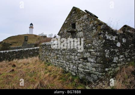 Bauruinen Und Leuchtturm Little Ross Island Schottland Stockfoto