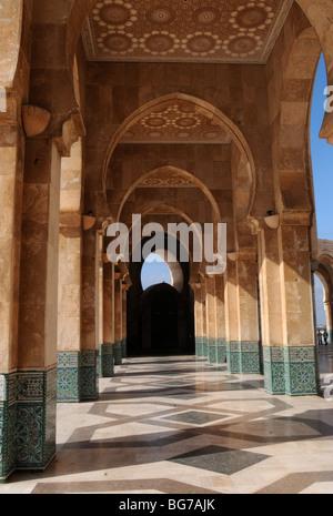 Hassan II Moschee in Casablanca, Marokko - Stockfoto