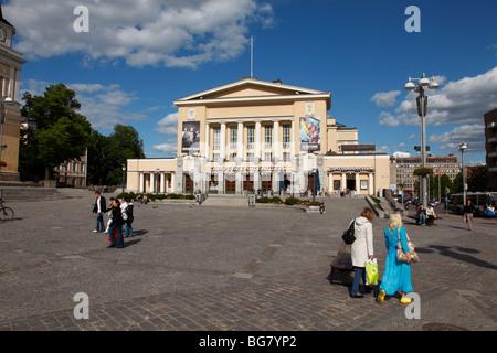 Finnland, Region Pirkanmaa, Tampere, Stadt, Zentralplatz, Neo-klassizistischen Tampere Theater - Stockfoto