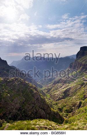 Der Weg nach Masca, Teneriffa, Kanarische Inseln, Spanien. - Stockfoto