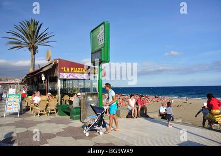 Beach Promenade, Playa del Ingles, San Bartolome de Tirajana Gemeinde Gran Canaria, Kanarische Inseln, Spanien - Stockfoto