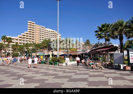 Strandpromenade, Playa del Ingles, Gran Canaria, Kanarische Inseln, Spanien - Stockfoto