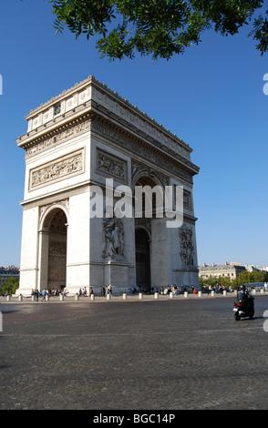 Der Arc de Triomphe. Paris, Frankreich - Stockfoto