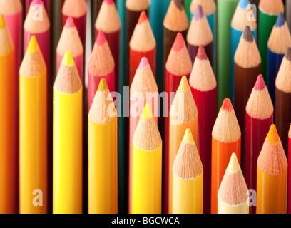 Nahaufnahme von Buntstiften - Stockfoto