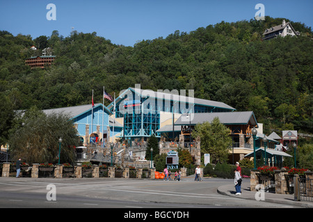 Brookgreen Smokies in Gatlinburg, Tennessee USA Bürgersteig Herbst - Stockfoto