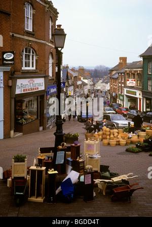Großbritannien, England, Herefordshire, Ross on Wye, High Street vom Markt