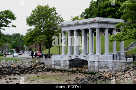 Plymouth Rock, Plymouth Harbor in Plymouth, Massachusetts. - Stockfoto