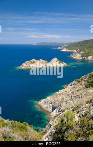 Port-Cros Island National Park, Rascas Felsen & Mittelmeerküste, Îles d'Hyères, Var, Côte d ' Azur oder Côte d ' - Stockfoto