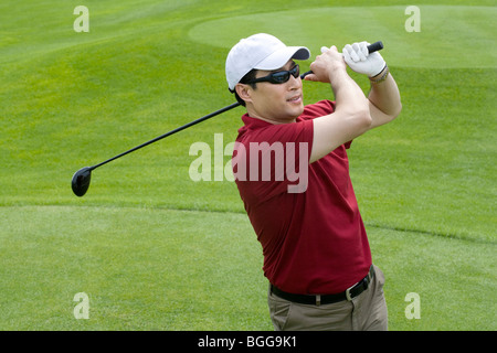 Porträt eines männlichen Golfers - Stockfoto