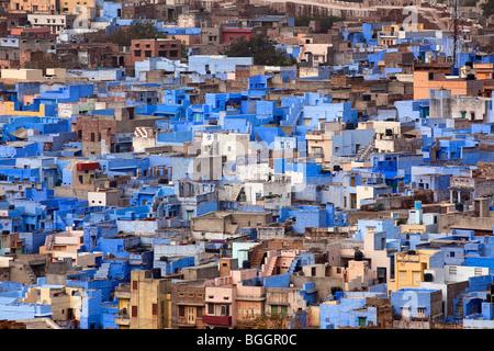 Blaues Haus in der schönen Stadt Jodhpur im Bundesstaat rajasthan - Stockfoto