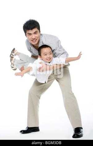 Vater und Sohn moment - Stockfoto
