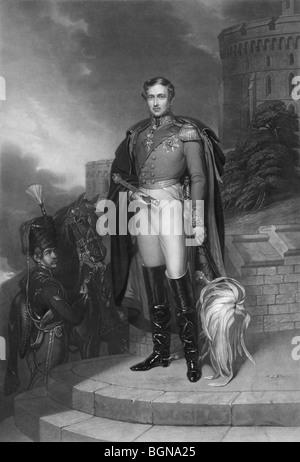 Porträt Kupferstich drucken c1847 von Prinz Albert von Sachsen-Coburg und Gotha (1819 – 1861), Ehemann von Königin - Stockfoto