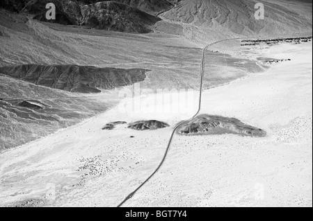 Luftaufnahme über Death Valley Nationalpark, Kalifornien - Stockfoto