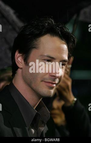 Kanadische amerikanische Schauspieler Keanu Reeves bei der Weltpremiere des Films Matrix Revolutions in Tokio, Japan, - Stockfoto