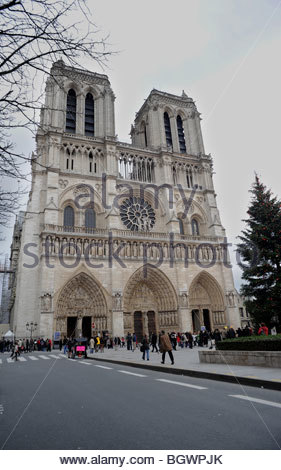 Die Kathedrale Notre Dame in Paris - Stockfoto