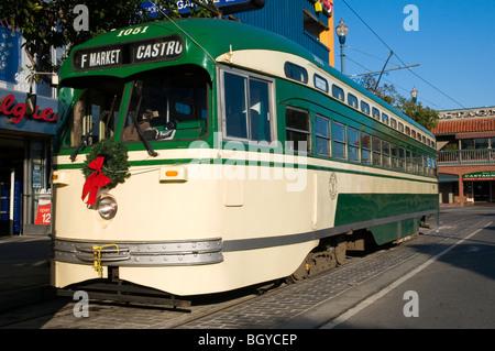 PCC Streetcar, Fishermans Wharf, San Francisco, Kalifornien, USA - Stockfoto