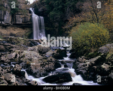 Thornton Kraft (Wasserfall) in Ingleton in North Yorkshire, England - Stockfoto