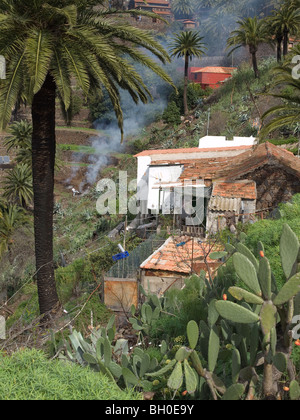 Eine kleine Farm in der malerischen Dorf Masca Teno ländlichen Mountain Park Teneriffa - Stockfoto