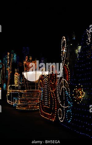 Leichte Parade, Disneyworld, Orlando, Florida, USA - Stockfoto