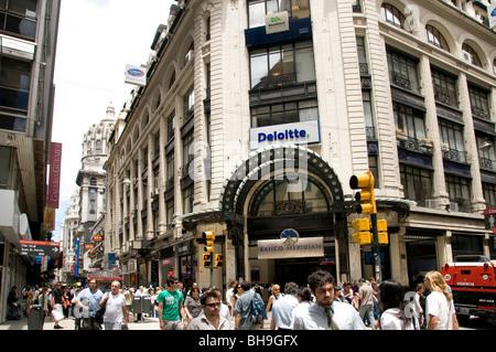 Deloitte Buenos Aires Avenida Avenue Florida Argentinien City Shopping Street - Stockfoto