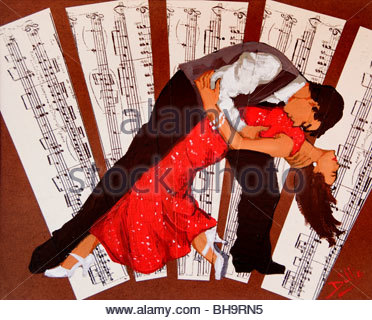 Tango Buenos Aires Argentinien La Boca El Caminito Tango tanzen tanzen - Stockfoto