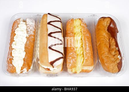 Auswahl an täglichen Sahne Kuchen - Stockfoto