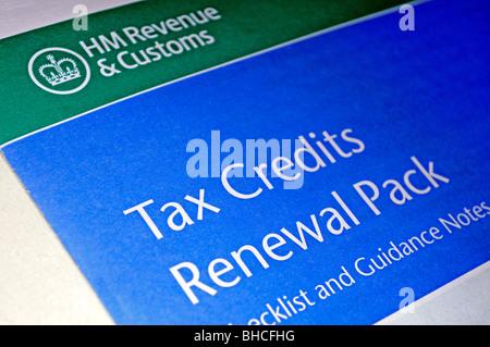 die Hmrc Umsatz Steuer Credits Erneuerung pack - Stockfoto