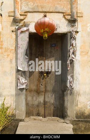 Haustür eine Hui-Stil-Haus in Jiangxi Provinz, China - Stockfoto