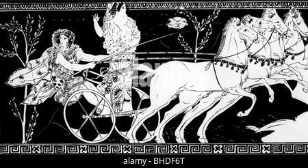 Sport, Olympische Spiele, Olympia, Antike, mit Pelops Hippodameia, Illustration nach Gründung Legende über die antiken - Stockfoto