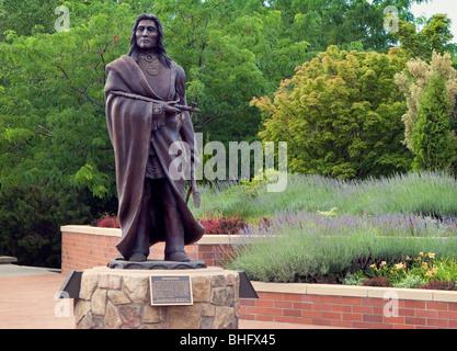 Statue von Peopeomoxmox in Walla Walla, Washington - Stockfoto