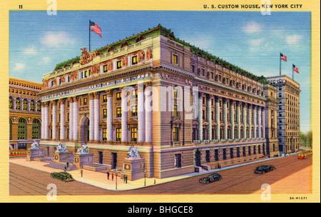US Custom House, New York City, New York, USA, 1933. Artist: Unbekannt - Stockfoto