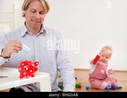 Vater speichern für baby - Stockfoto