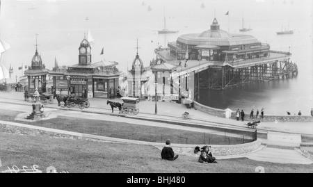 Plymouth pier, Plymouth, Devon, Juli 1893. Artist: Unbekannt - Stockfoto