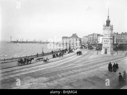 Die Promenade, Ramsgate, Kent, 1890-1910. Artist: Unbekannt - Stockfoto