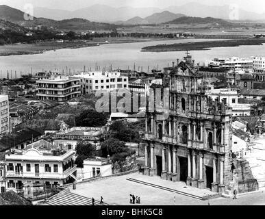 Geographie/Reisen, Volksrepublik China, Macau, Stadtansichten/Stadtansichten, Blick auf die Stadt von Fortaleza - Stockfoto
