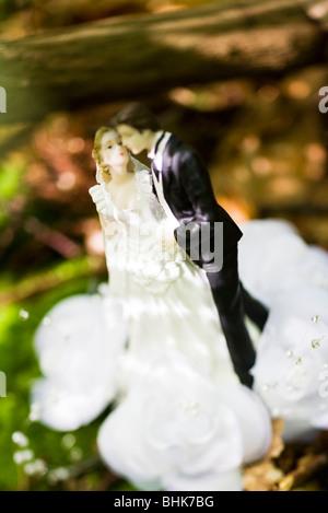Brautpaar Hochzeitstorte Figur - Stockfoto