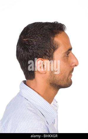 Profilbildnis eines Jünglings Naher Osten - Stockfoto