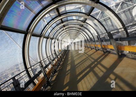 Detail des Tunnels Panorama betrachten Centre Pompidou, Paris, Frankreich - Stockfoto
