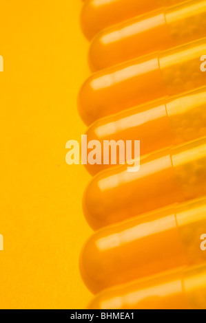 Nahaufnahme der Medizin Pillen - Stockfoto