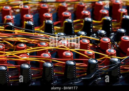 Red Circuit Board Nahaufnahme Schuss für Hintergrund Stockfoto ...