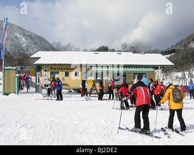 Reiteralm Skilift im Dorf von Pichl Austria - Stockfoto