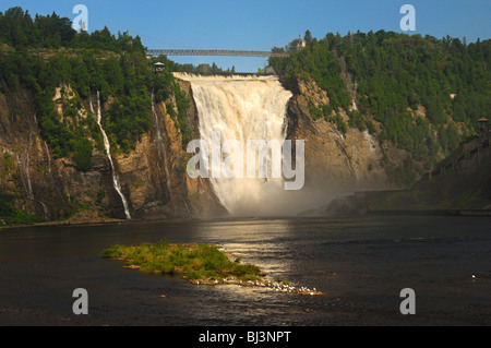 Naturschauspiel Montmorency Falls, Beauport, Quebec, Kanada - Stockfoto