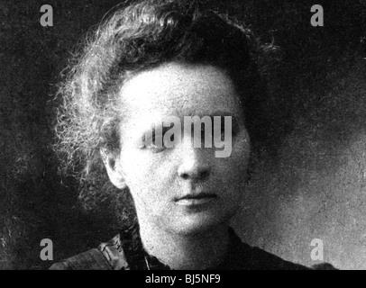MARIE CURIE (1867-1934) Polen geborenen französischen Physiker und Nobelpreisträger - Stockfoto
