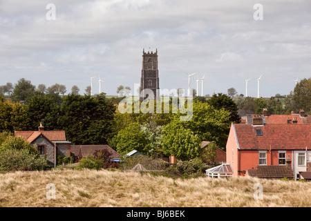 Großbritannien, England, Norfolk, West Somerton Windfarm von Winterton am Meer - Stockfoto