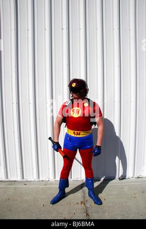 Superheld, ein echter Superheld mit Sitz in Clearwater Florida - Stockfoto
