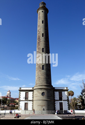 El Faro de Maspalomas Leuchtturm Gran Canaria Spanien - Stockfoto