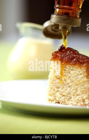Frisch gebackene Sirup Sponge Pudding Dessert mit Keine Personen - Stockfoto
